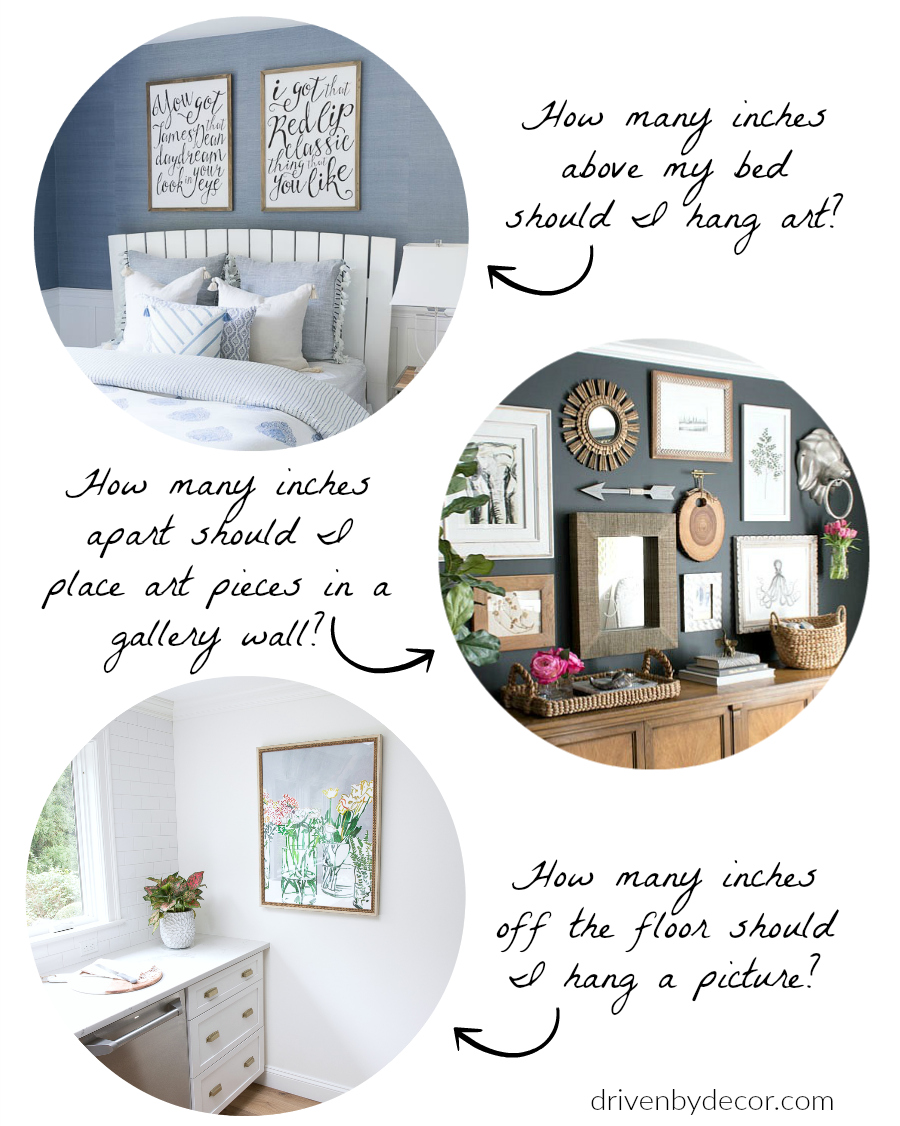 The Best Height To Hang Pictures Simple Tips For Getting It Right Driven By Decor