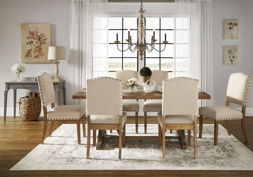 Gorgeous upholstered dining chairs at a surprisingly cheap price!