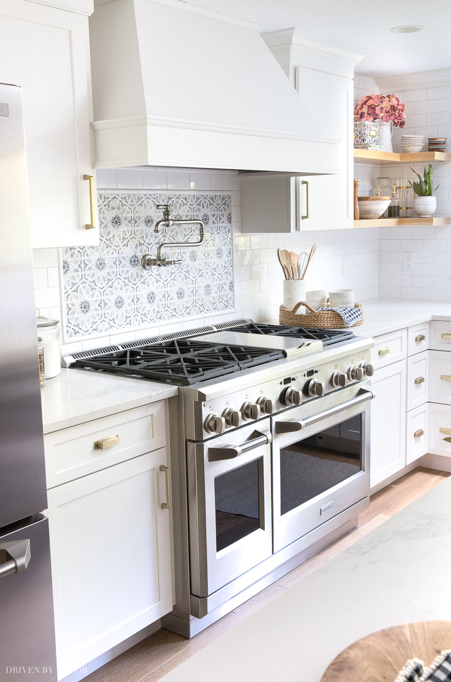 Having a range with two ovens (one full size and one smaller) is one of my favorite features of our new kitchen!