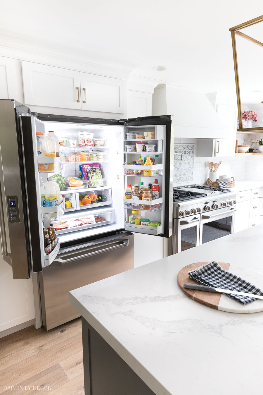 A counterdepth refrigerator that still has loads of storage space!!