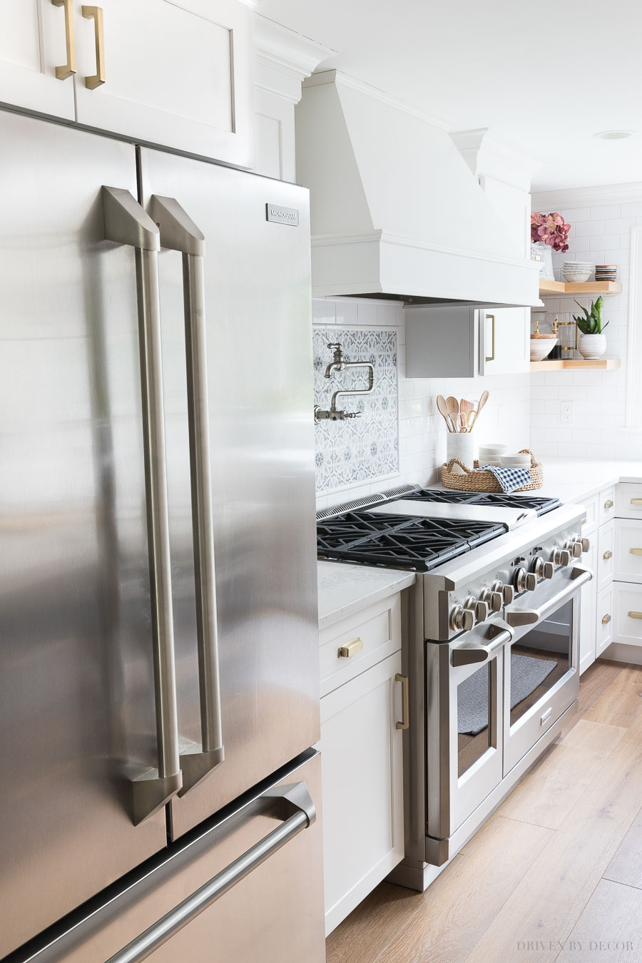 Gorgeous Monogram appliances (love the handles)! Lots of details on favorite features in this post!