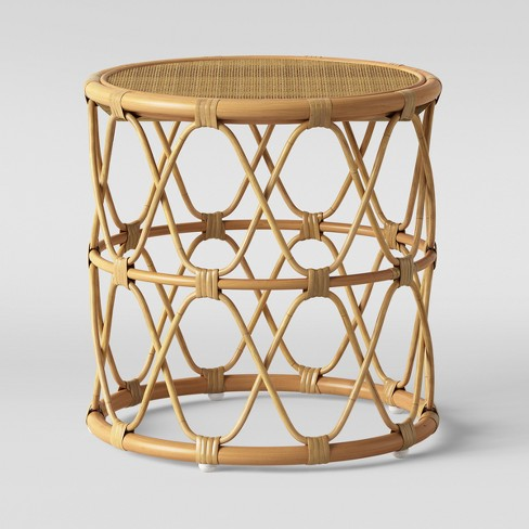 Super cute rattan side table