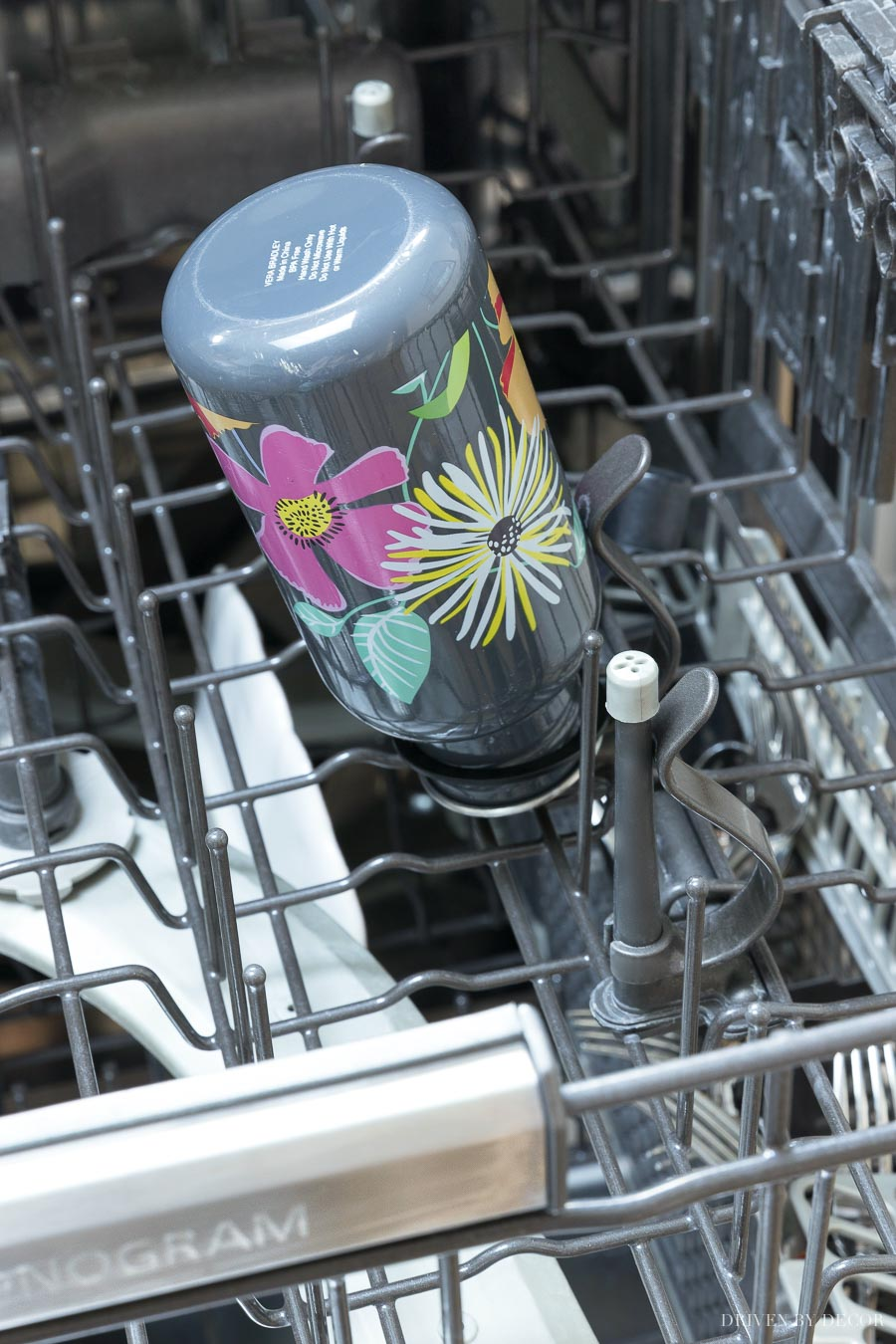 My favorite dishwasher feature ever! Water jets to clean the inside of water bottles!!