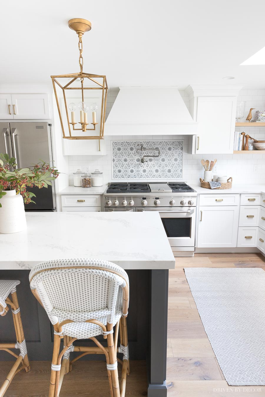 Love the appliances in this kitchen! She talks about all of her favorite appliance features in this post!
