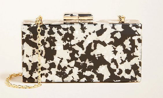 Gorgeous black and white lucite clutch - love!!