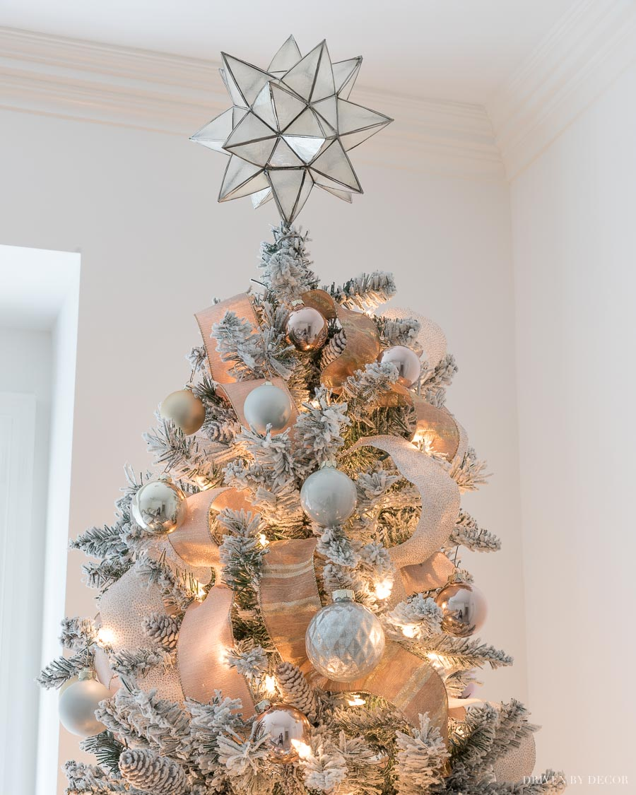 Gorgeous capiz star tree topper!