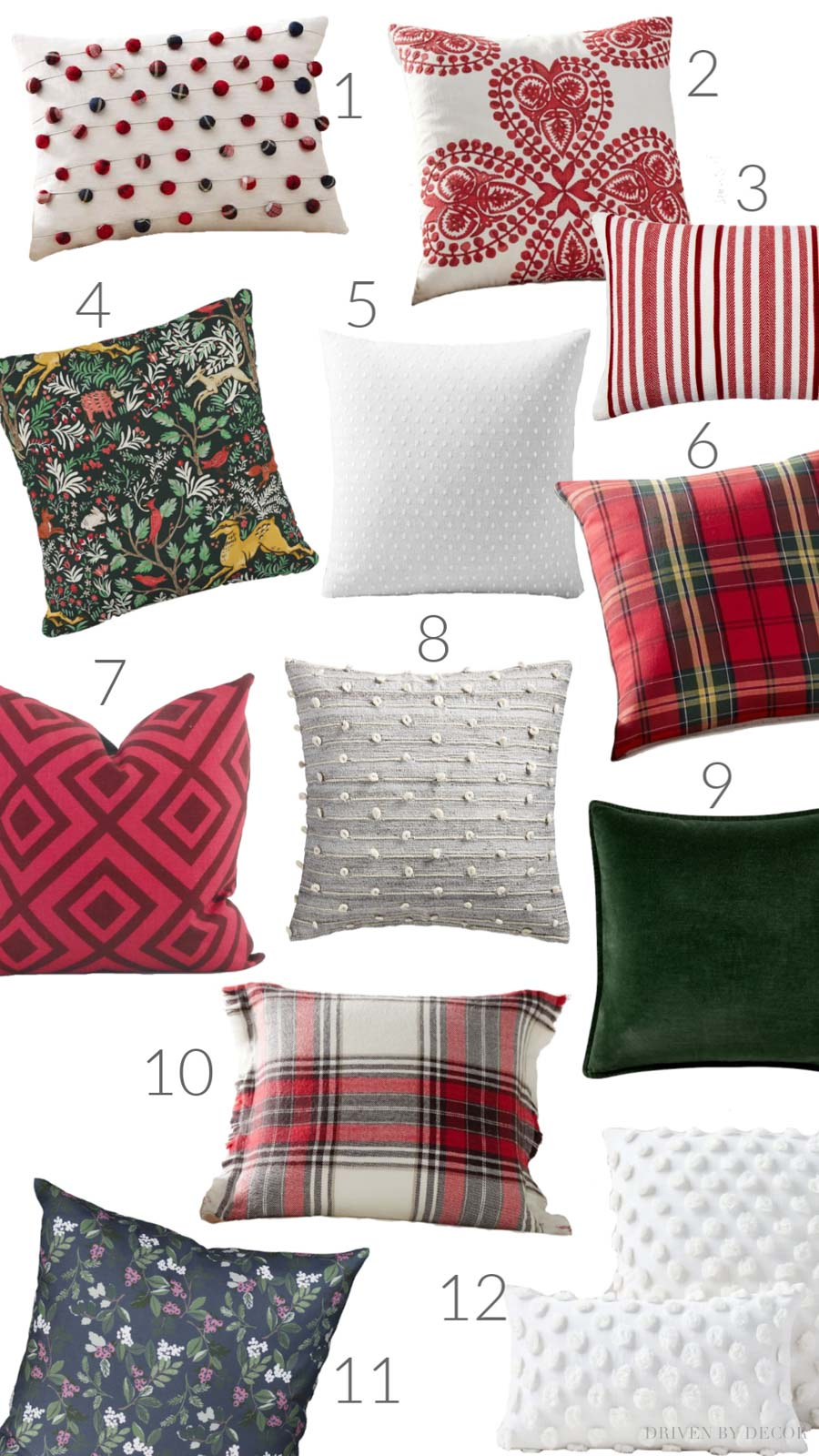 Loving all of these beautiful Christmas pillows!!