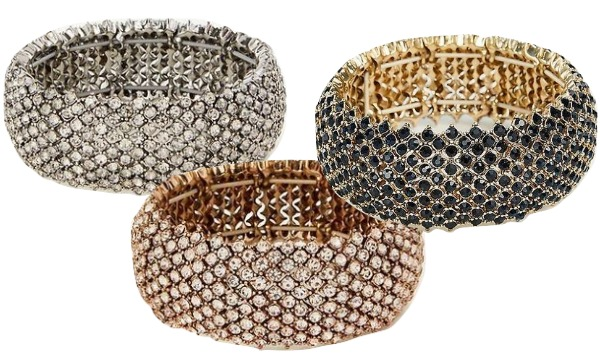 Crystal stretch bracelets that would make great Christmas gifts!