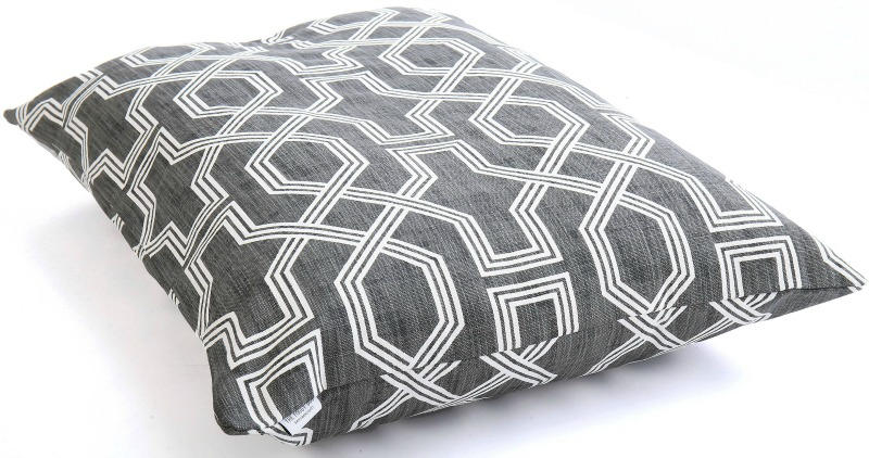 Stylish gray trellis dog bed