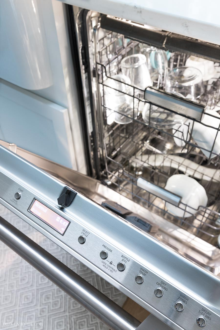 Love the LED lighting in my Monogram dishwasher! So easy to see if the dishes are clean!