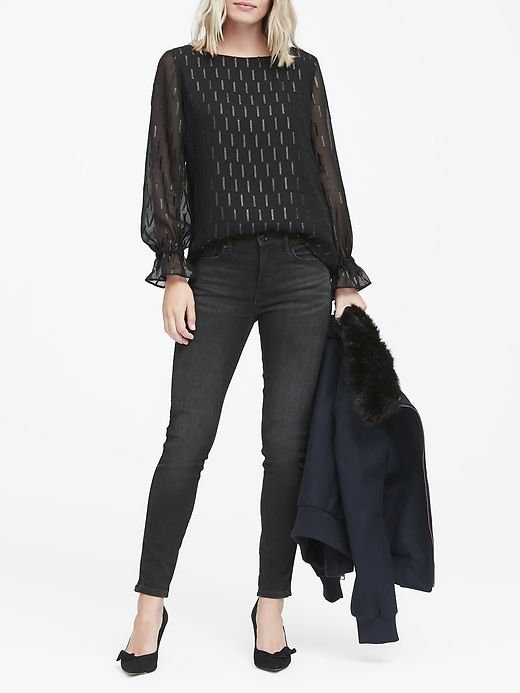 A gorgeous top for dressy casual holiday parties!