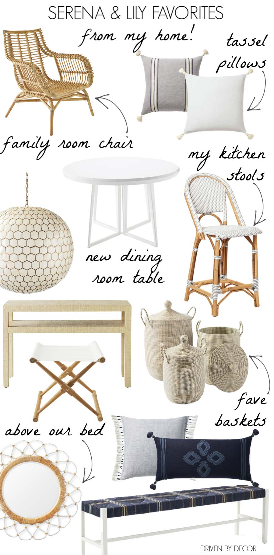 Favorites from my home that are part of Serena & Lily's Black Friday Sale!
