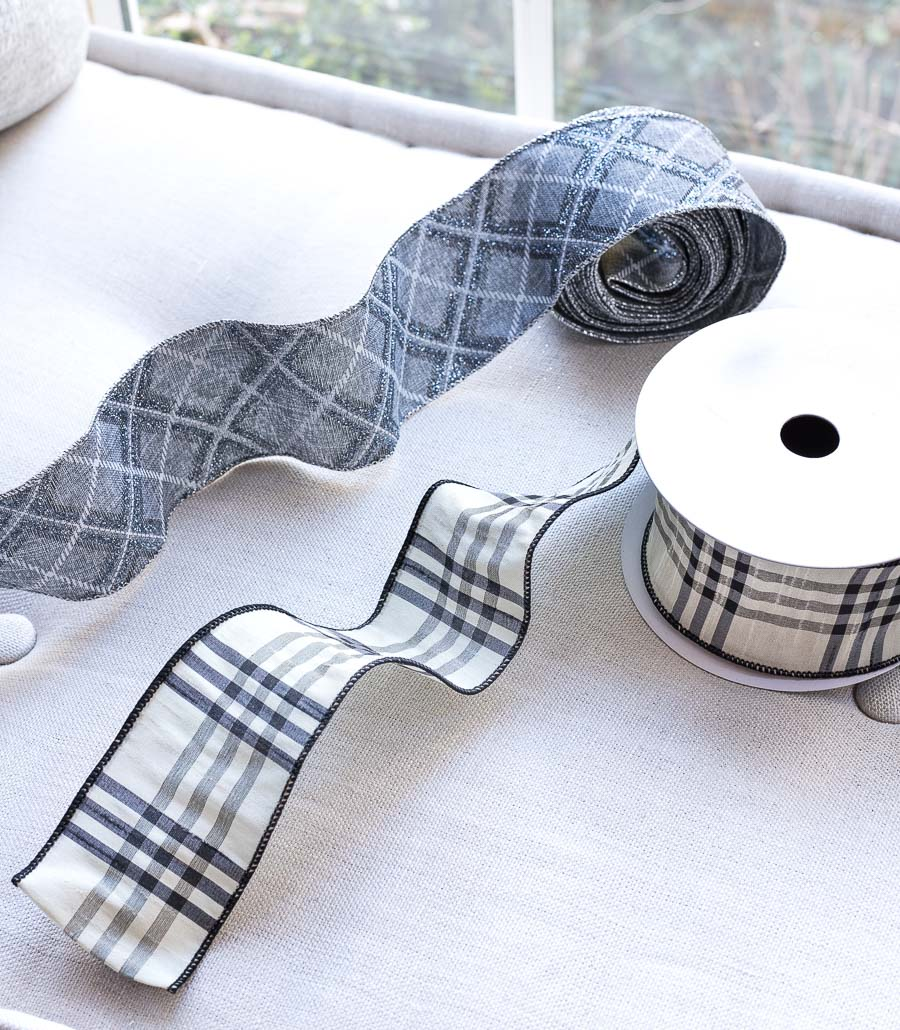 Love these plaid wired ribbon! Perfect for the holidays!