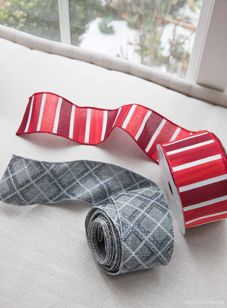 Love this wired ribbon for decorating for Christmas!