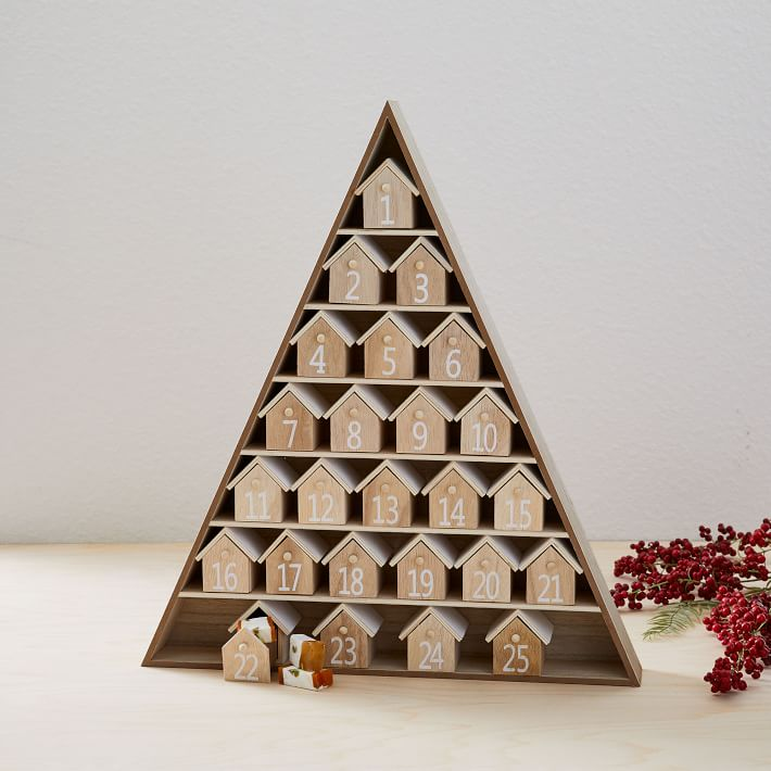 Darling wood house advent calendar - one of my favorites from 2019!