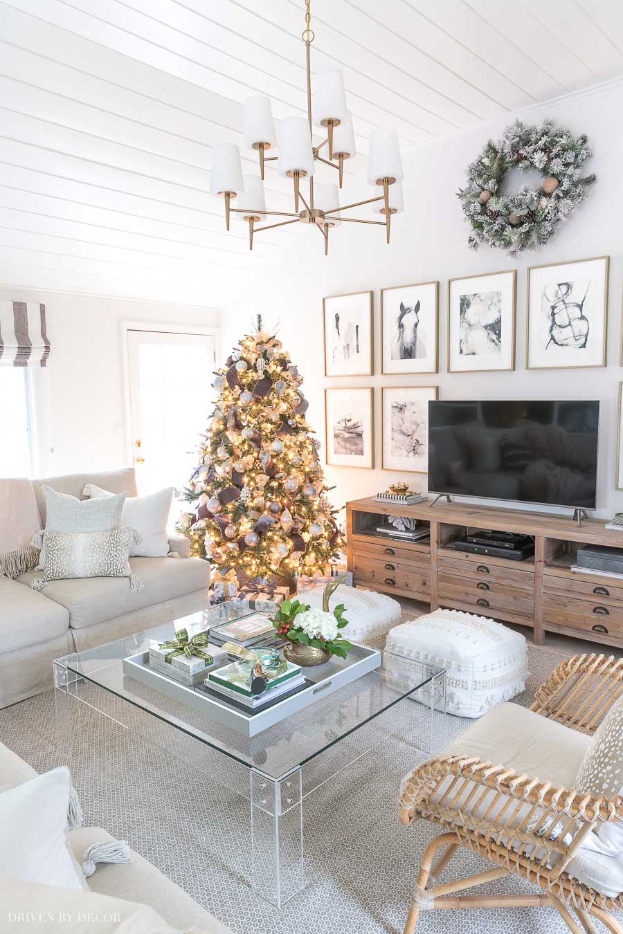 Tour our family room decorated for Christmas!