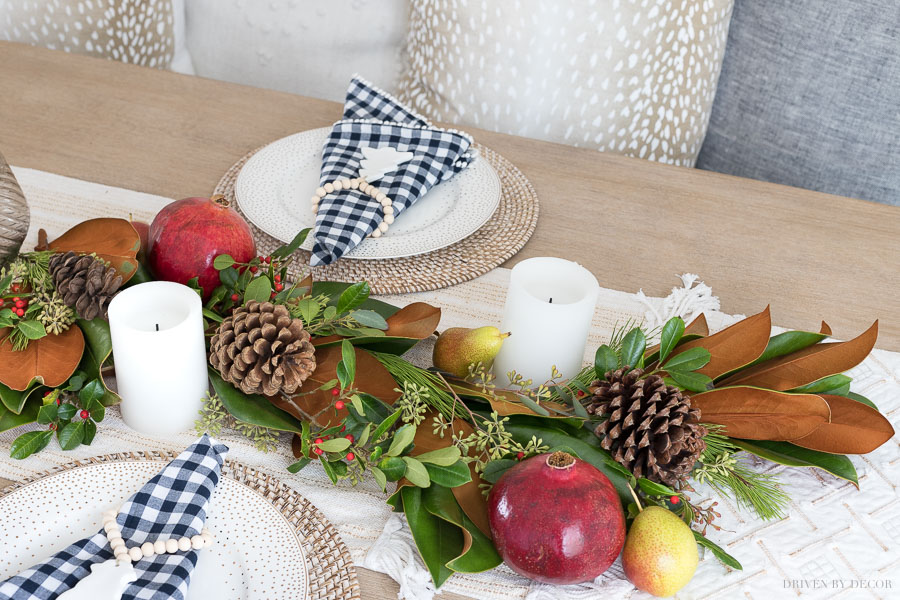 Simple to follow tutorial on how to create a fresh greenery table runner!