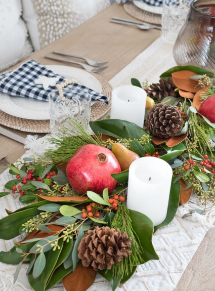 How to Make a Greenery Table Runner Step by Step!