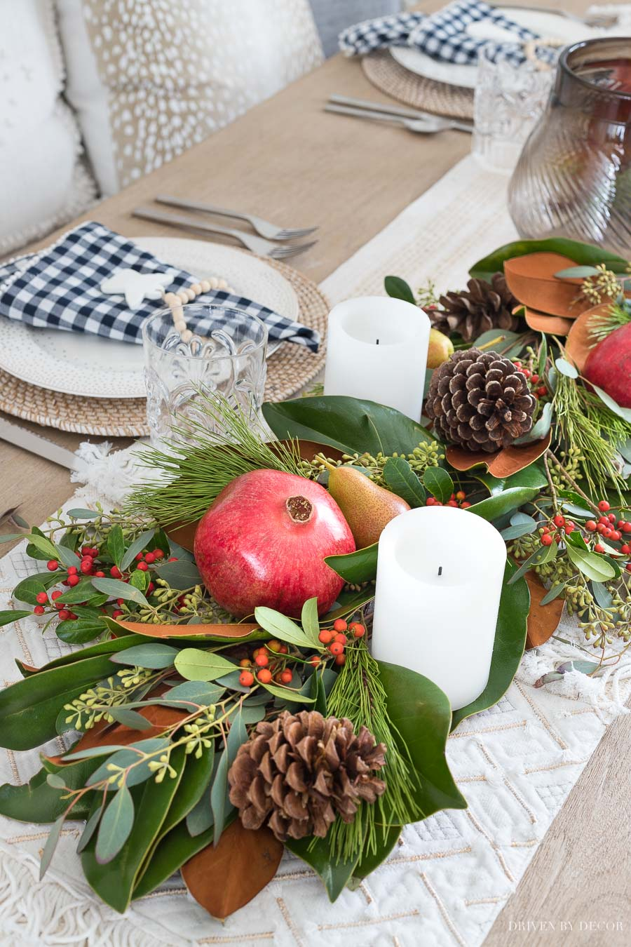 Simple how-to tips for creating your own fresh greenery table runner!