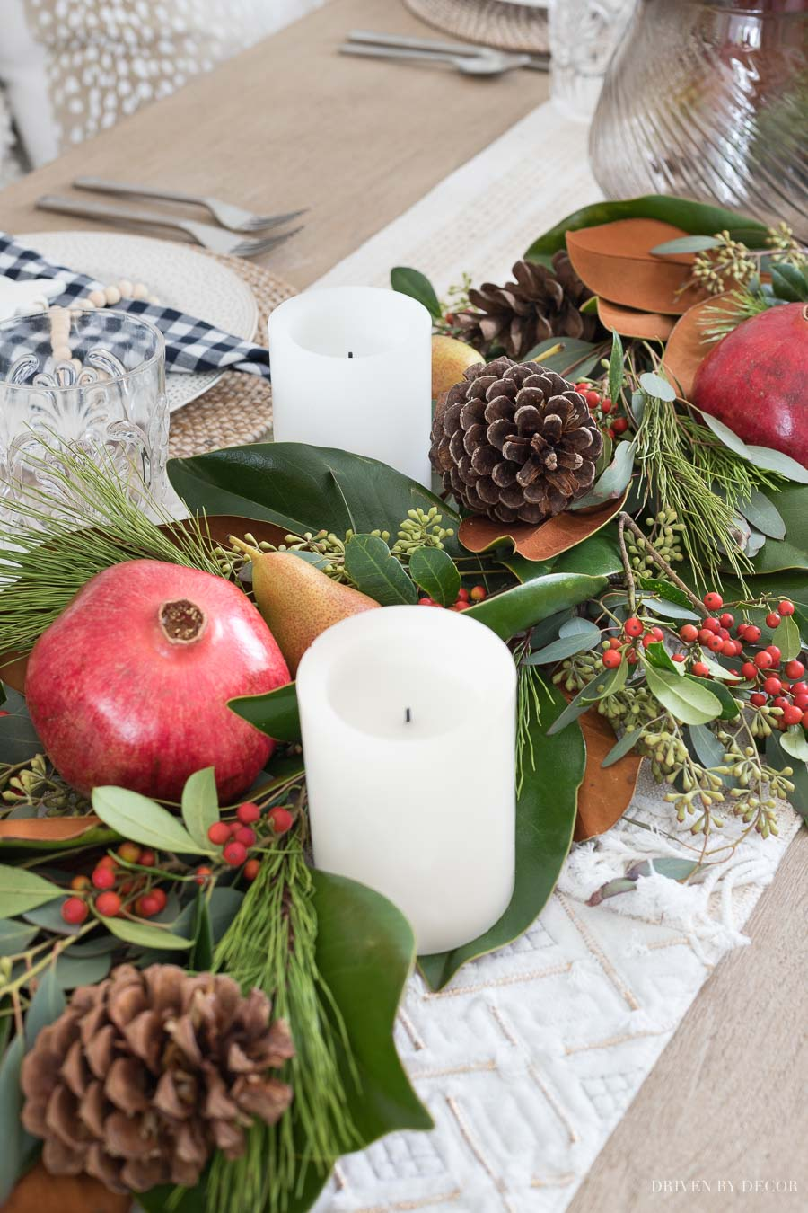 An awesome step by step tutorial for creating a fresh greenery table runner!