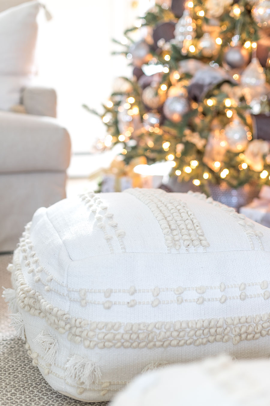 Loving these inexpensive but gorgeous floor poufs!