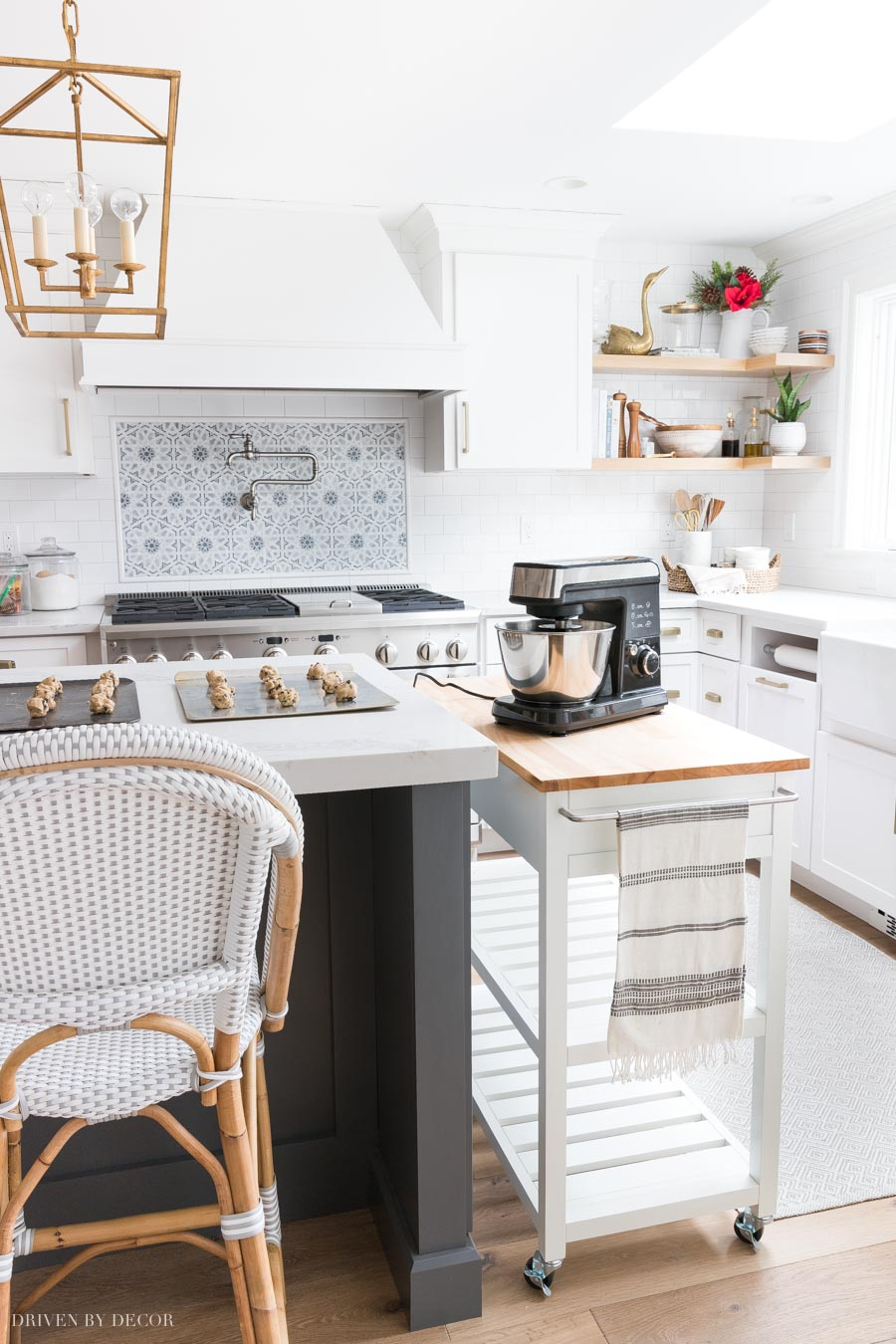 A kitchen cart is perfect for adding some extra food prep space when you're short on countertop space!
