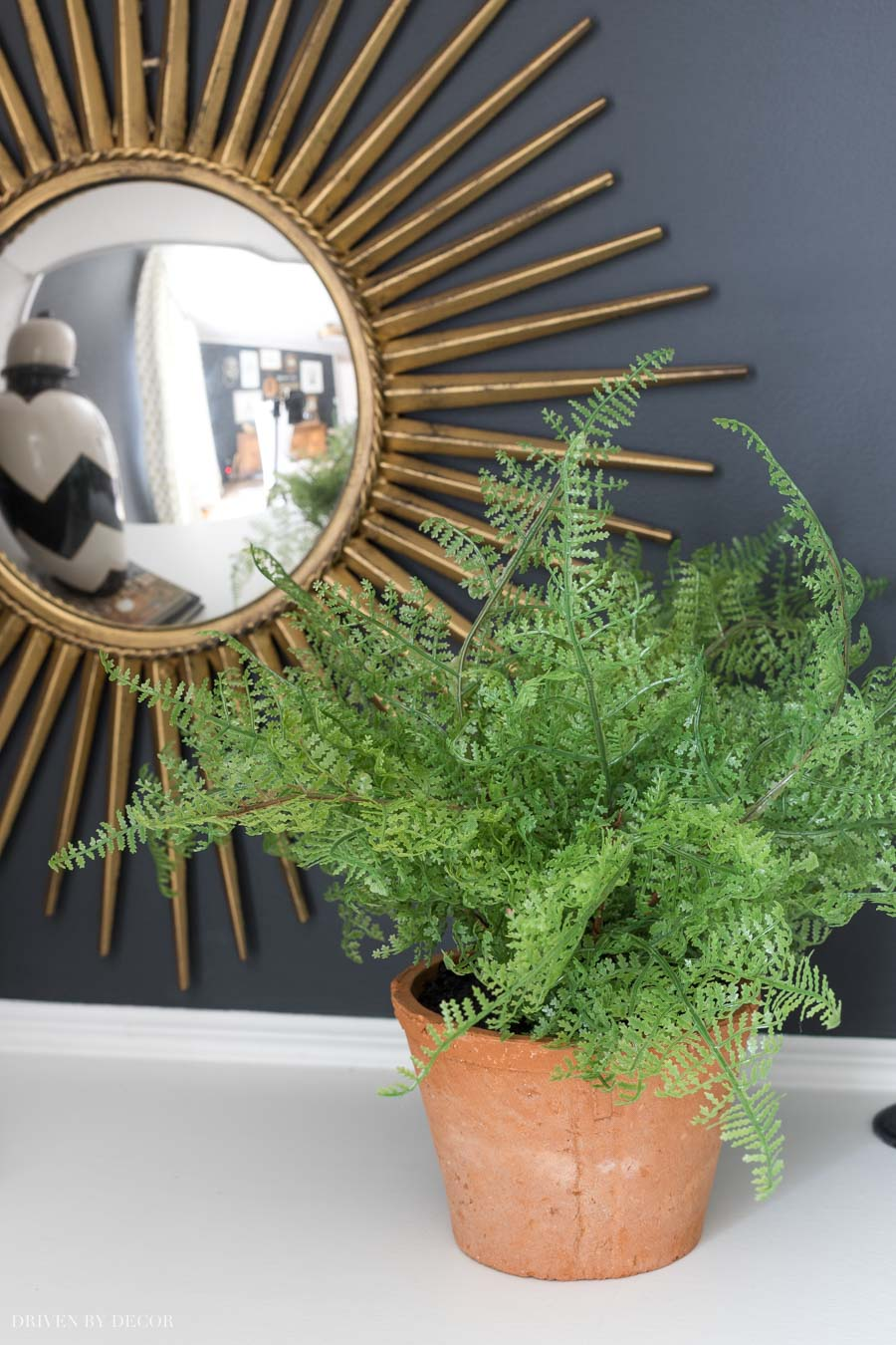 A realistic faux fern - perfect for low light areas!