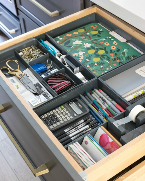 Kitchen Command Center Drawer Organization