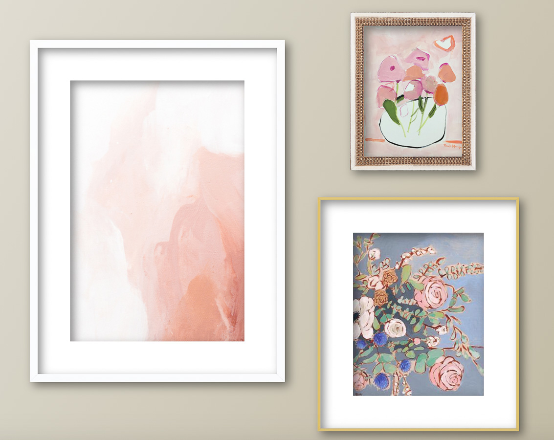 Love being able to play around with art print and frame size and arrangement before buying anything!