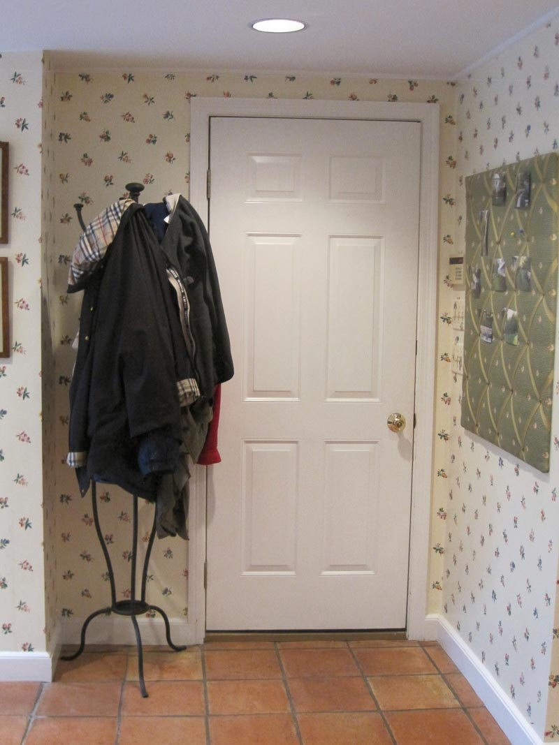 """Our garage entryway """"before"""""""
