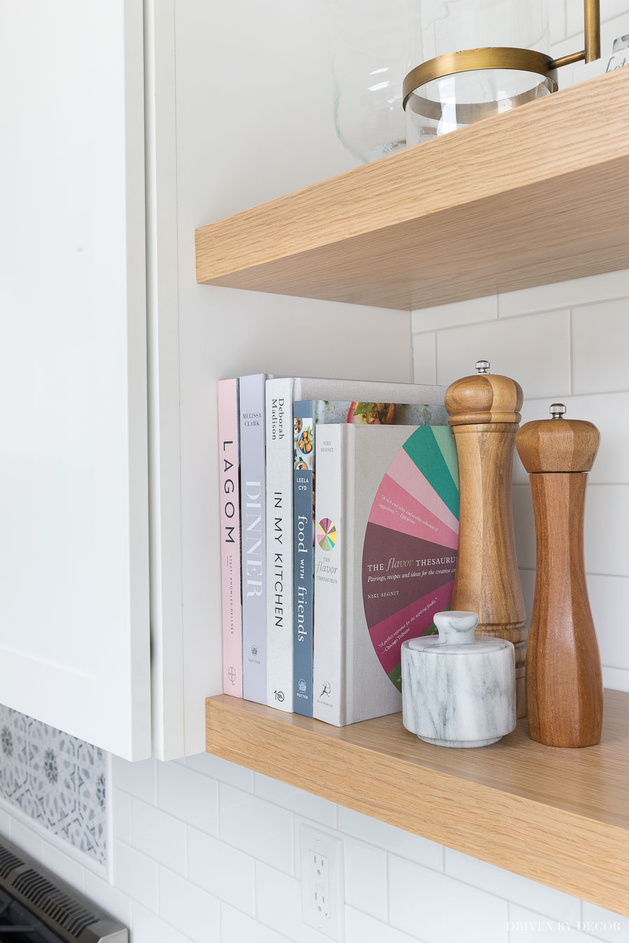 The Floating Corner Shelves In Our Kitchen All The Details Driven By Decor