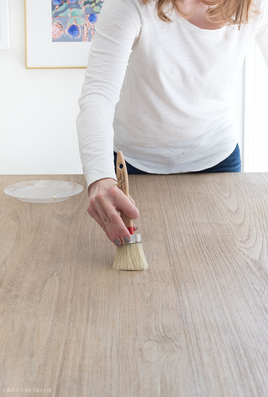 This is so helpful! Shows you how to apply wax to a wood table to seal and protect it!