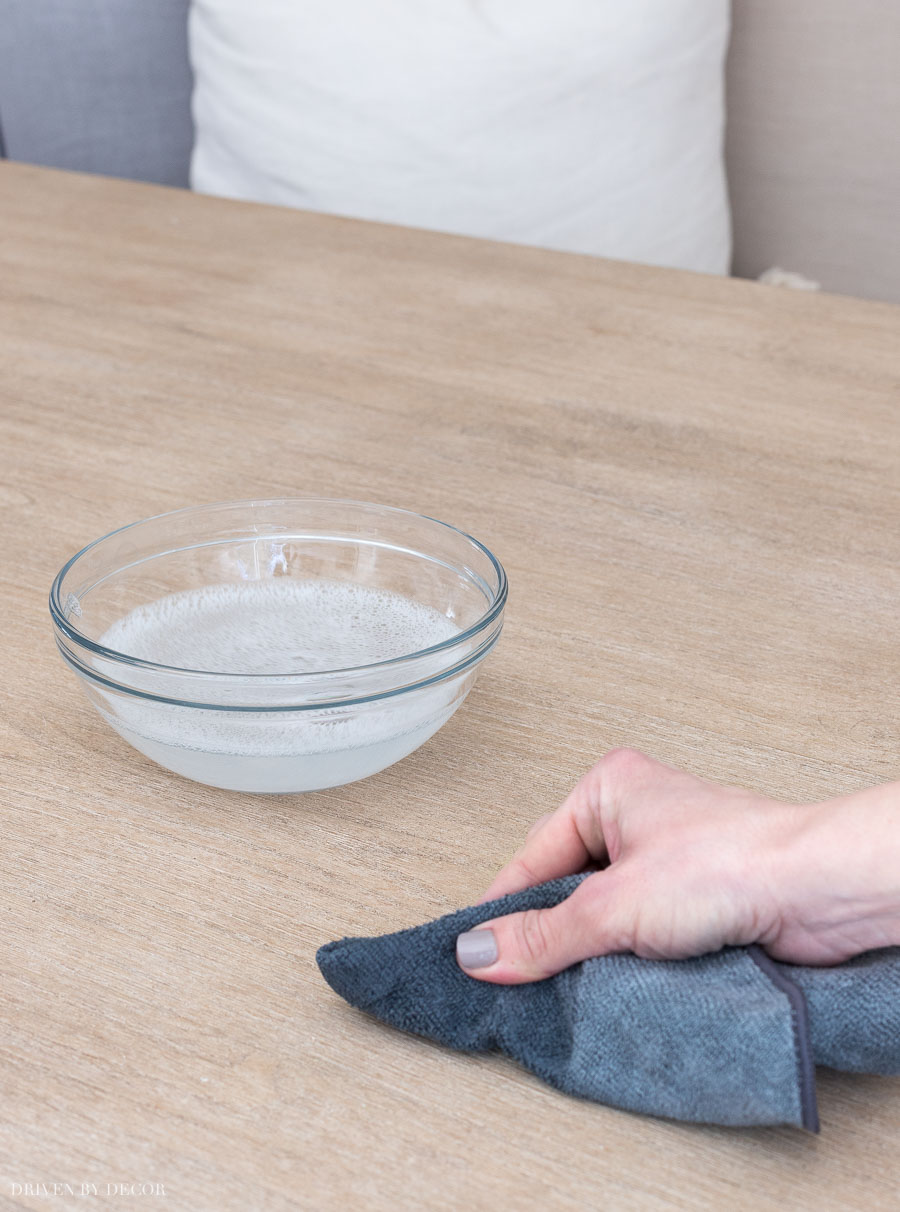 The simple how-to for cleaning my wood dining table