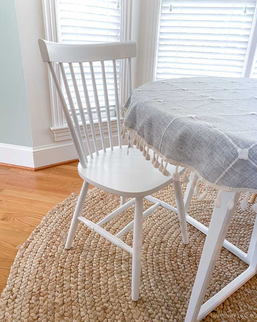 Love the simple style of these spindle chairs!