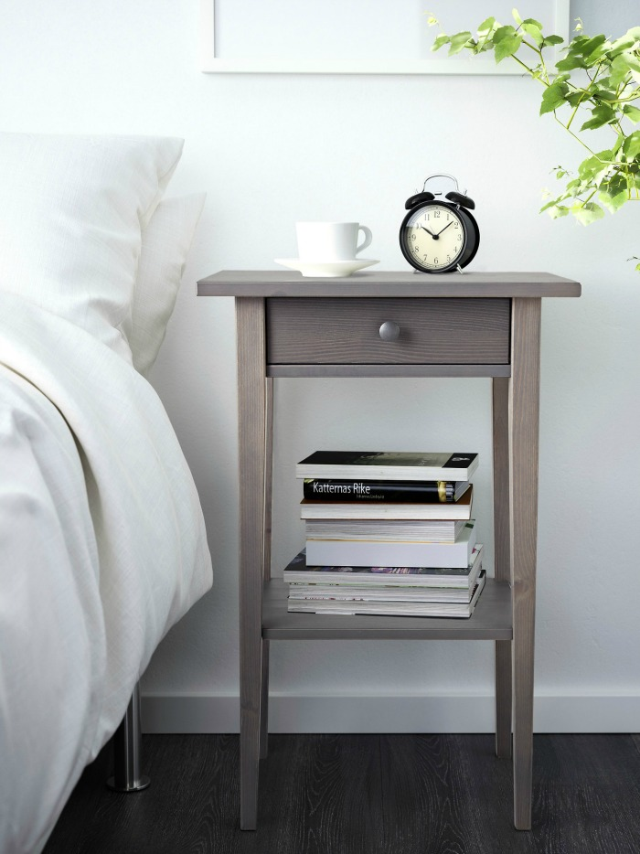An inexpensive small-space nightstand that doesn't look cheap!