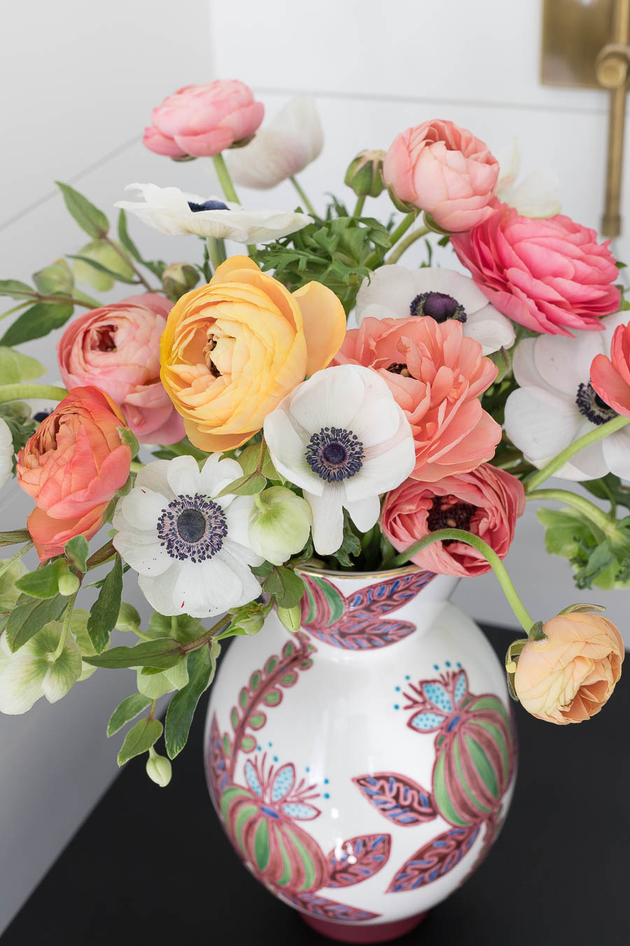 Love this colorful floral vase!