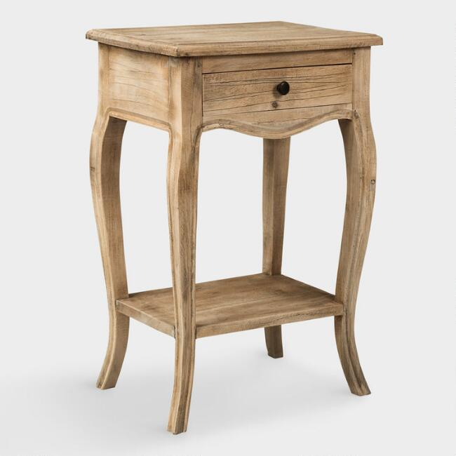 Loving this simple, classic wood nightstand! Love that it's narrow so perfect for smaller bedrooms!