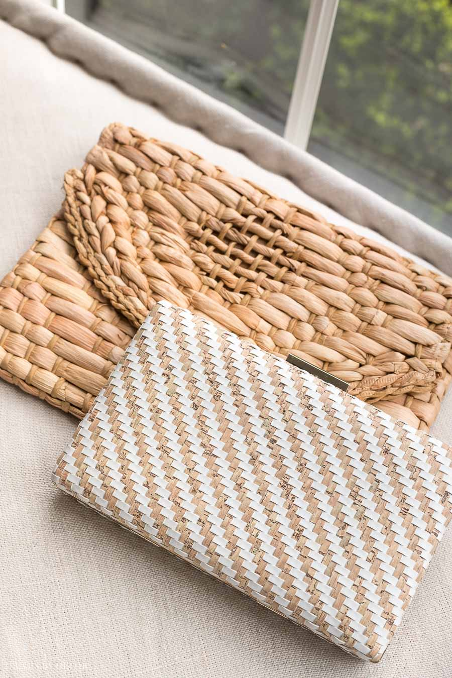 Love these woven clutches for summer!