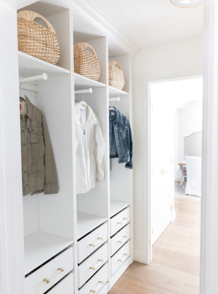 Our New Coat Closet Using IKEA Wardrobes!