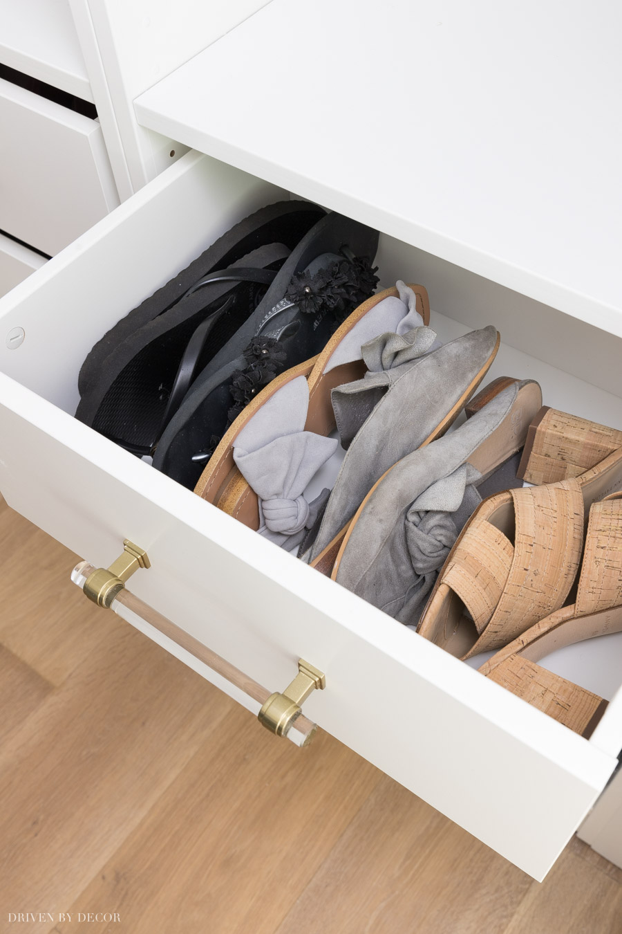 Shoe storage in IKEA PAX wardrobes with KOMPLEMENT drawers!