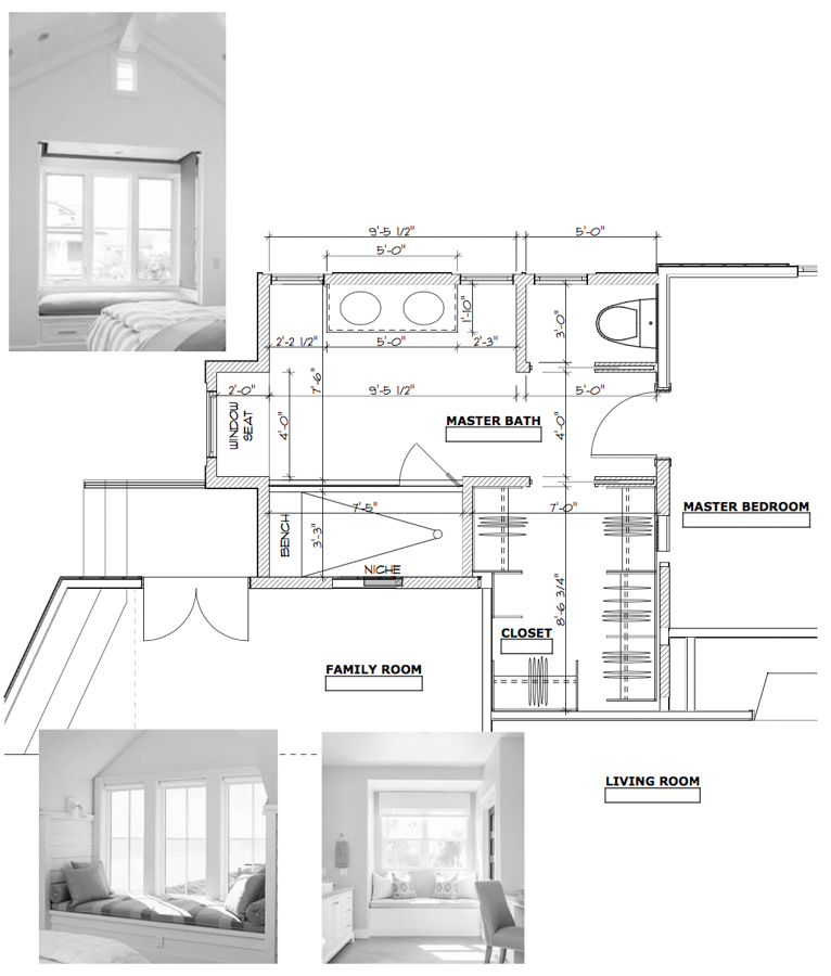 New plans for a 150 square foot master bedroom addition