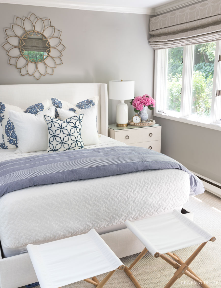 This bed making 101 is SO helpful! All the details on each layer to put on your bed from the mattress protector on up!