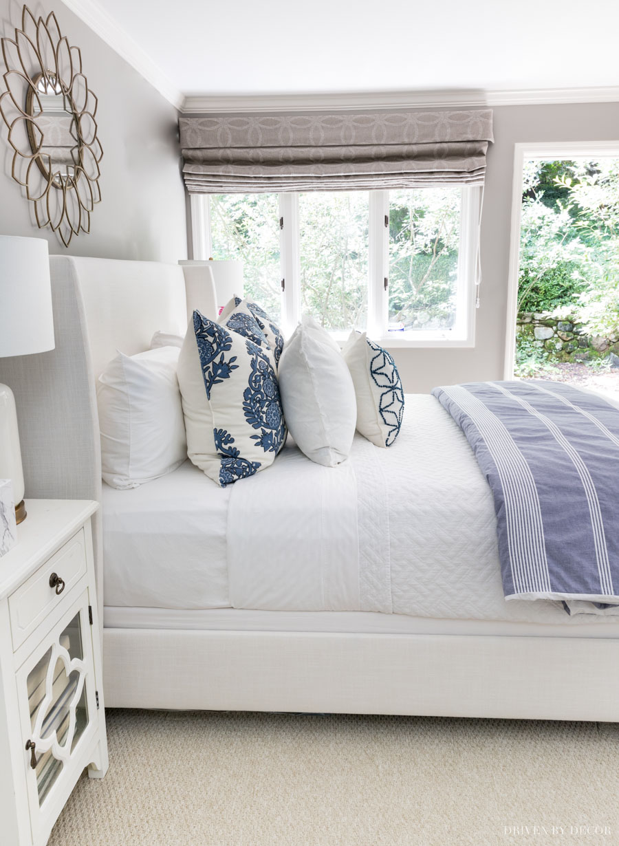 Love seeing how she layers the sheet, coverlet, and duvet in this bed making 101 post!