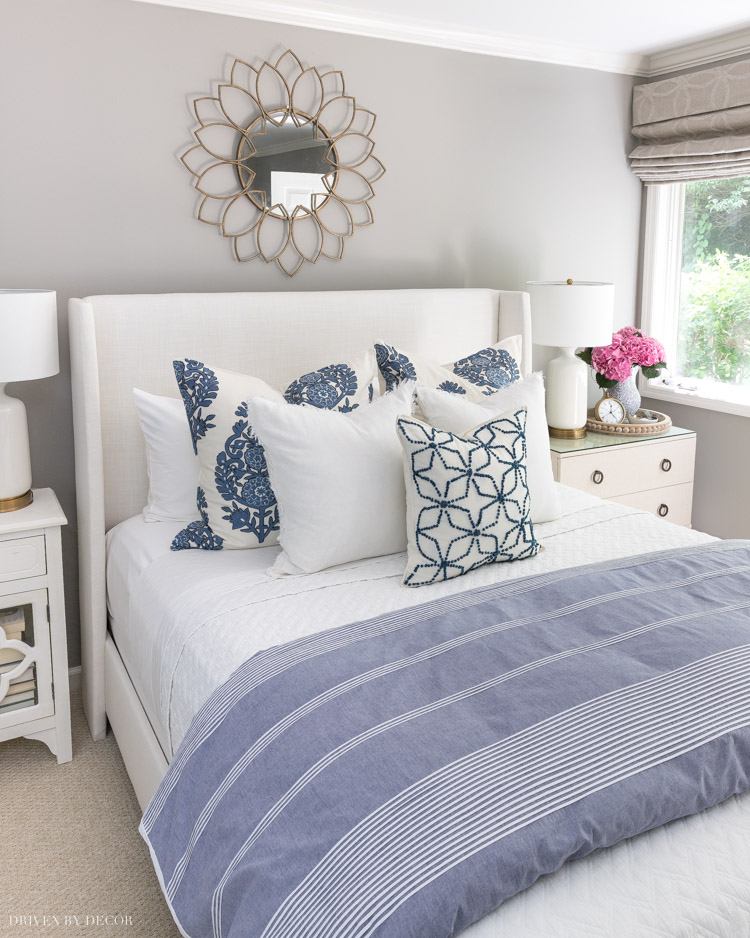 LOVE this bed making 101 post! So helpful in choosing the right duvet, sheets, pillows, and other bedding!
