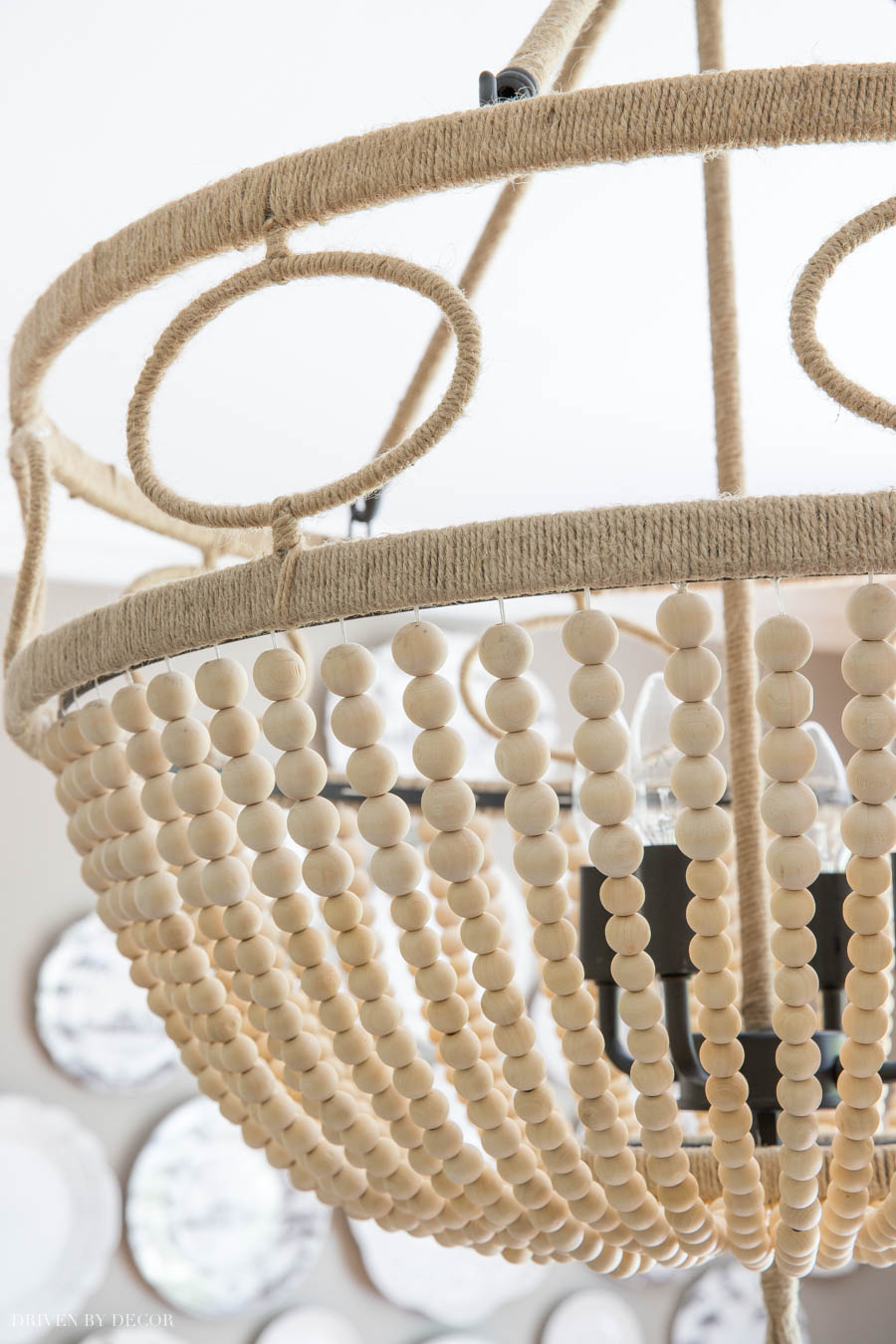 Love, love, love this gorgeous beaded rope chandelier!