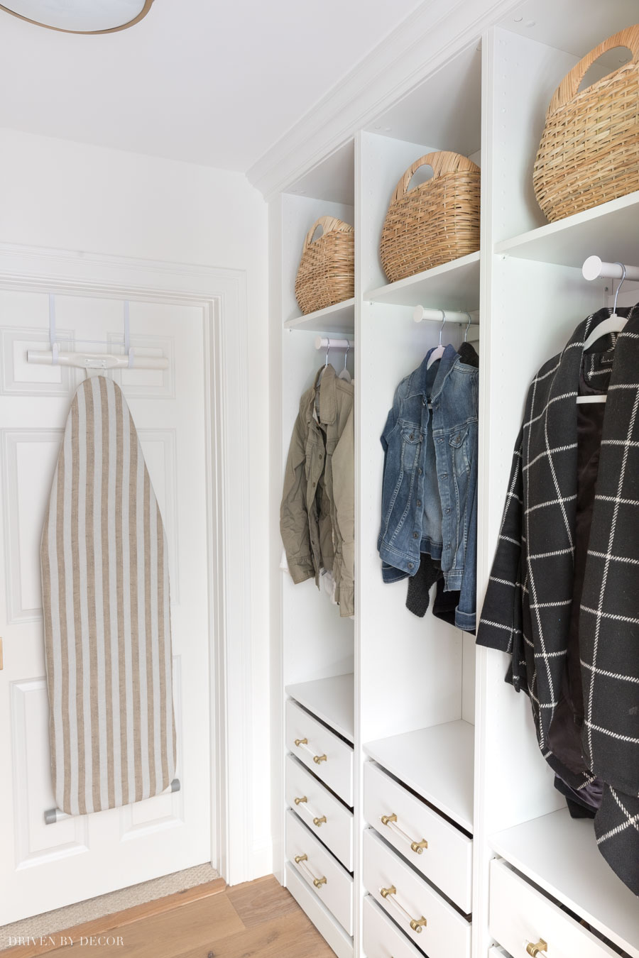 The space saving hangers are the best for small spaces!