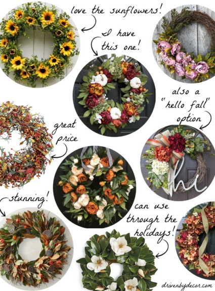 Favorite Fall Wreaths For Your Front Door!