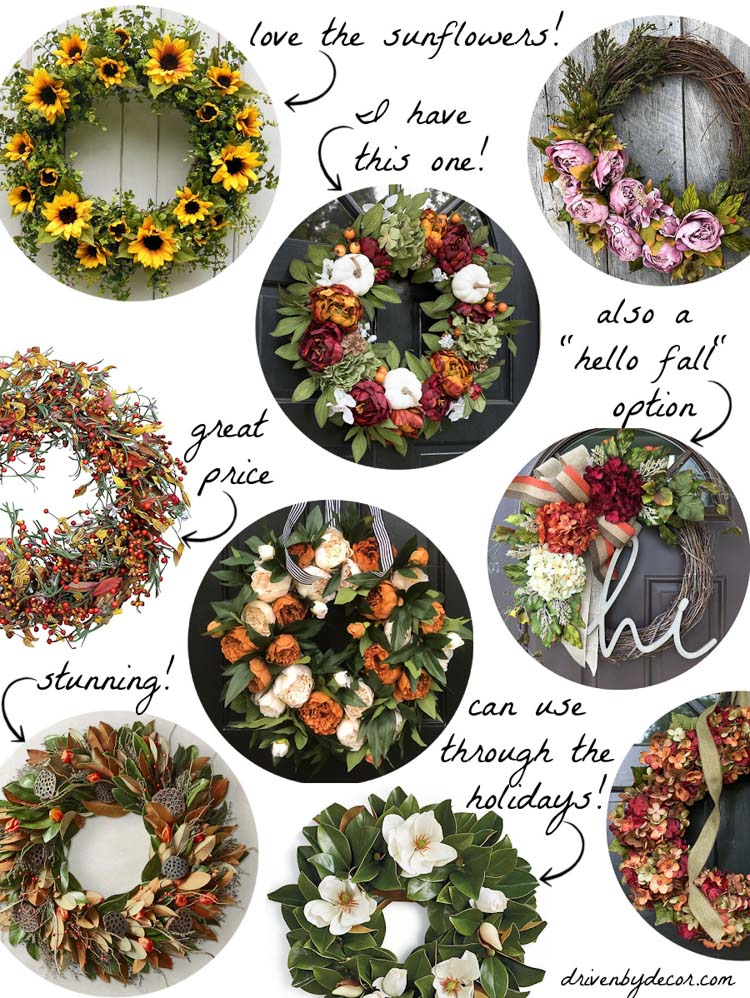 Love all of these gorgeous fall wreaths for your front door!