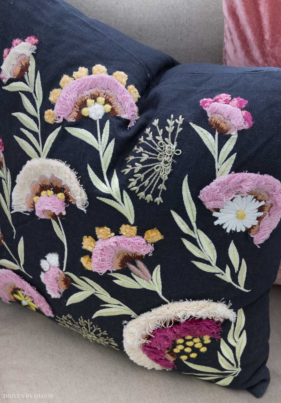 Gorgeous embroidered pillow!