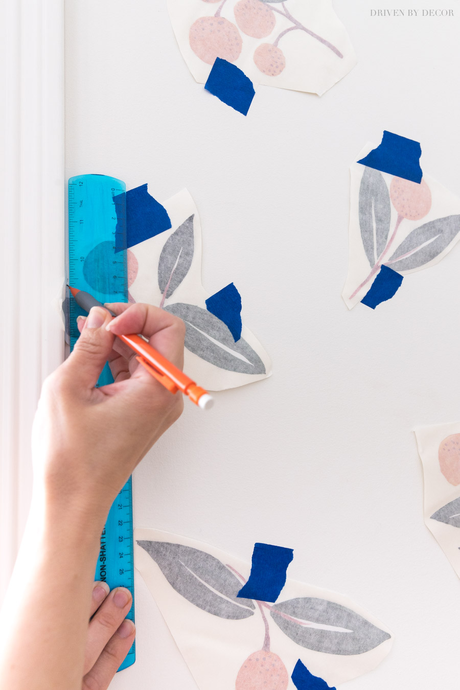 Tips on how to apply vinyl wall decals that overlap the edge of the wall